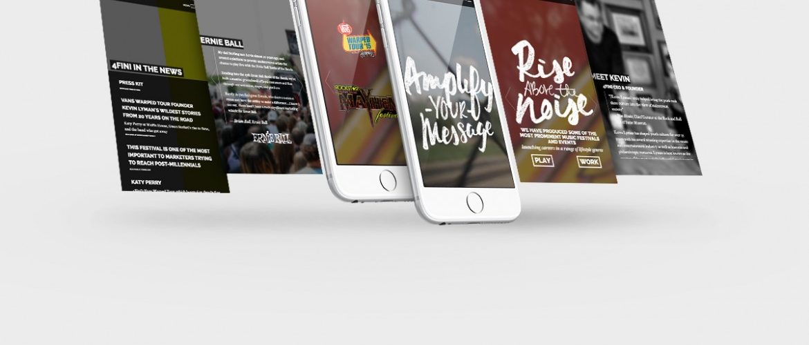4fini Mobile Website Design