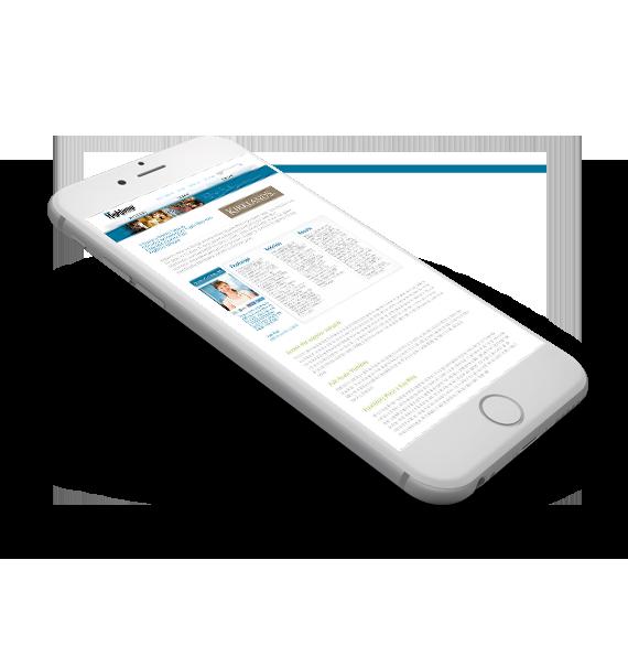 Highjump Mobile Website Design
