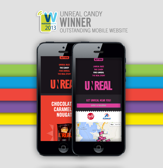 Unreal Candy Mobile Website Design Award