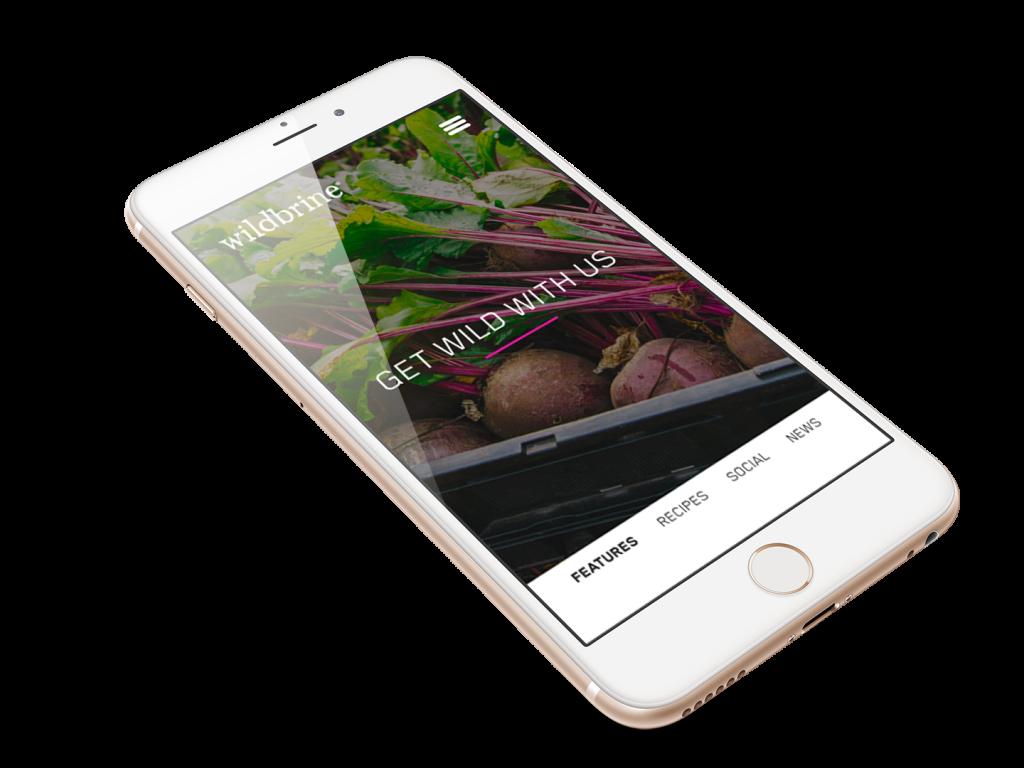 wildbrine Mobile Website Design