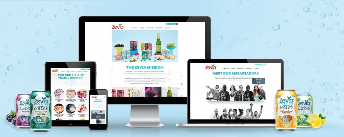 Zevia Responsive Website Design